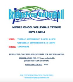 Volleyball Tryouts